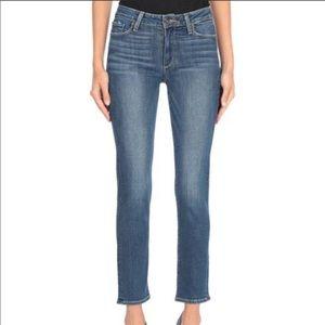 Paige Jacqueline Straight Leg High Rise Jean